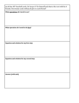 Multi-Step, Multi-Operational Word Problems - Good for Test Prep!