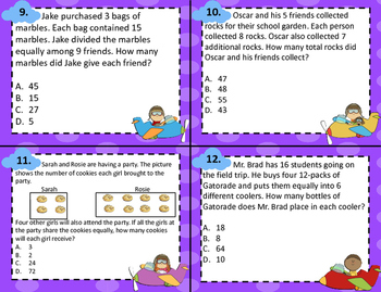 3.4K Multi-Step Multiplication & Division Word Problem Task Cards STAAR
