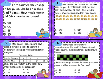 3.4K Multi-Step Multiplication & Division Word Problem Task Cards STAAR