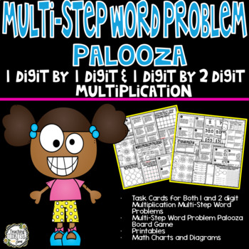 Multi-Step Multiplication Word Problems -1 by 1 Digit and 1 Digit by 2 Digit