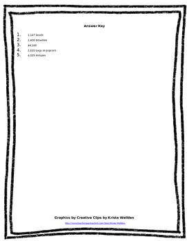 5.NBT.5 (Multi Step Multiplication Word Problems) Worksheet