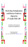 Multi Step Multiplication and Division Word Problems