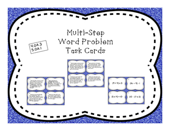 Multi-Step / Order of Operation Differentiated Word Problem Task Cards
