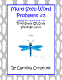 Multi-Step Problem QR Code Add/Subtract Scavenger Hunt - 3.OA.8 Third Grade