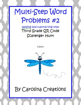Multi-Step Problem QR Code Add/Subtract Scavenger Hunt - 3