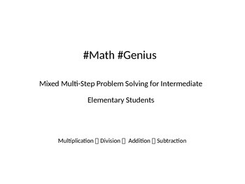 Multi Step Problem Solving