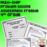 Multi-Step Problem Solving Assessment FREEBIE