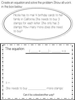 Multi-Step Problem Solving BUNDLE - Task Cards and Activities- Common Core