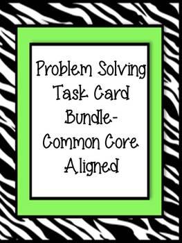 Multi-Step Problem Solving BUNDLE - Task Cards and Activit