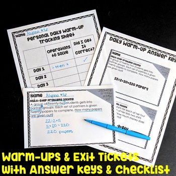 Multi Step Problem Solving Bundle 4th Grade