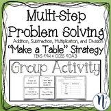 """Multi-Step Problem Solving """"Make a Table"""" Strategy Group Activity"""