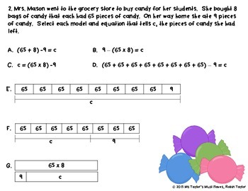 Multi-Step  Problem Solving,  Models, & Equations- 4th Grade