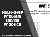 Multi Step Problem Solving Practice