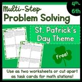 Multi-Step Problem Solving: St. Patrick's Day Theme