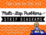 Multi-Step Problems with Strip Diagrams & Equations Match-Up Cards {TEKS 4.5A}