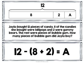 strip diagram 4th grade multi step math multi-step problems with strip diagrams & equations match ... #9