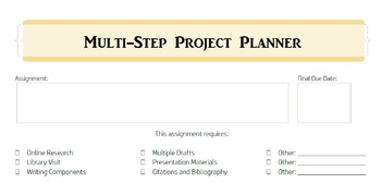Multi-Step Project Planning Tool and Reflections