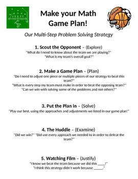 "Multi-Step Solving Strategy - ""The Game Plan"""