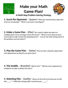 """Multi-Step Solving Strategy - """"The Game Plan"""""""