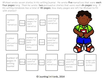 Multi-Step Story Problems: Back to School Freebie