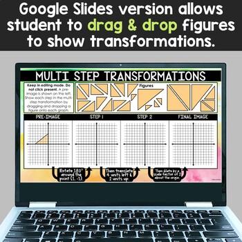 Multi Step Transformations Activity, Card Sort