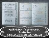 Multi-Step Trigonometry Problems Foldable