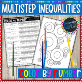 Multi-Step & Variables on Both Sides Inequalities Color By Number; Algebra 1