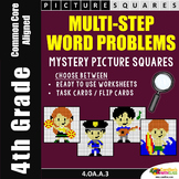 Multistep Word Problems, 4th Grade Multi Step Word Problems Coloring Worksheets