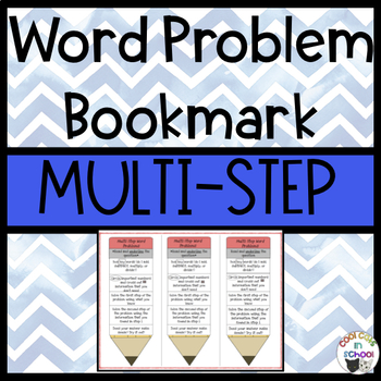 Multi Step Word Problem Bookmark