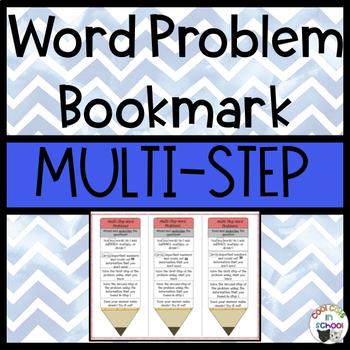 Multi Step Word Problem Bookmark