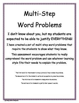Multi-Step Word Problem Freebie 3.OA.8