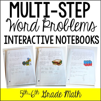 multi step word problem interactive notebook by jennifer findley