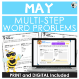 Multi-Step Word Problem Practice May Theme