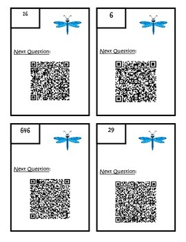 Multi Step Word Problem QR Scavenger Hunt 4.OA.A.3 Fourth Grade Common Core Math
