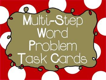 Multi-Step Word Problem Task Cards