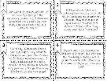 Multi-Step Word Problem Task Cards
