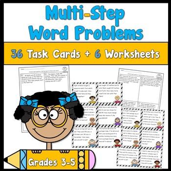 Multi Step Word Problem Task Cards
