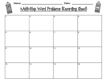 Multi-Step Word Problem Task Cards - 3OA8
