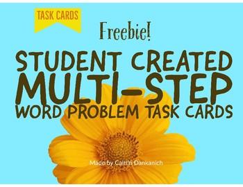 Multi-Step Word Problem Task Cards Freebie!