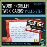 Multi Step Word Problem Task Cards: Grade 4-5