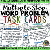 Multiple Step Word Problem Task Cards