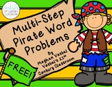 Multi-Step Word Problem Task Cards: Pirate Theme