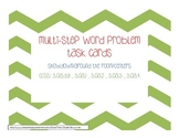 Multi-Step Word Problem Task Cards: Third Grade Common Cor