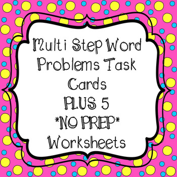 TPT Multi-Step Task Cards