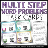 Multi Step Word Problem Task Cards with QR codes {Common Core 3.OA.8}