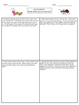 Multi-Step Word Problem Unit - Grade 4