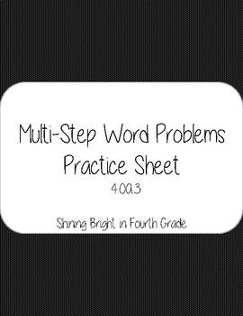 Multi-Step Word Problems!