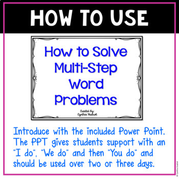 Multi-Step! Word Problems!