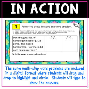 Multi Step Word Problems With Worksheets