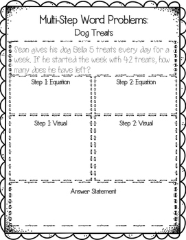 Multi Step Word Problems {14 printables, 3.OA.D.8, 4.OA.A.3}